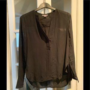 Vince black long sleeve blouse. Size 0